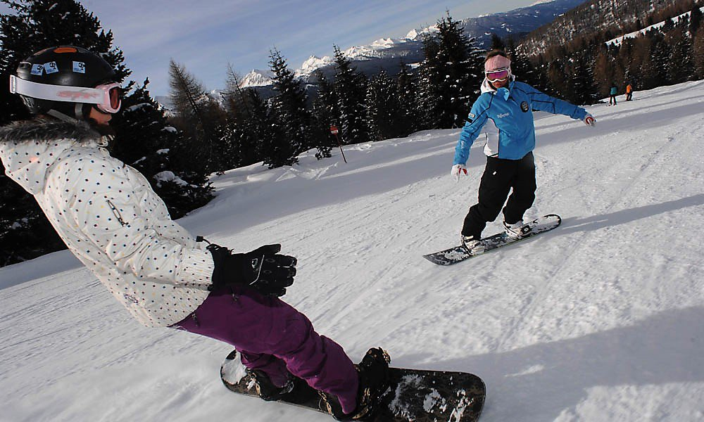 Fun on the slopes at the Ski Center Latemar